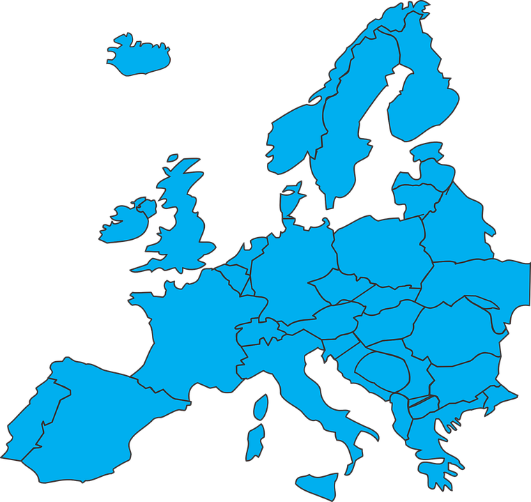 Karta Lander I Europa.Europa Lander Karta Gratis Vektorgrafik Pa Pixabay