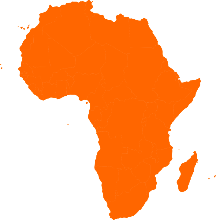 Africa Continent Map · Free vector graphic on Pixabay