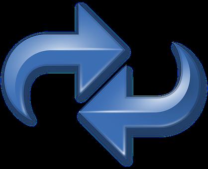 Arrows Blue Double Reverse Redo Reload Cyc