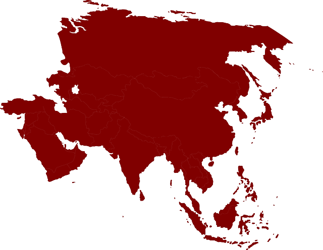 Asia Continent Map · Free Vector Graphic On Pixabay