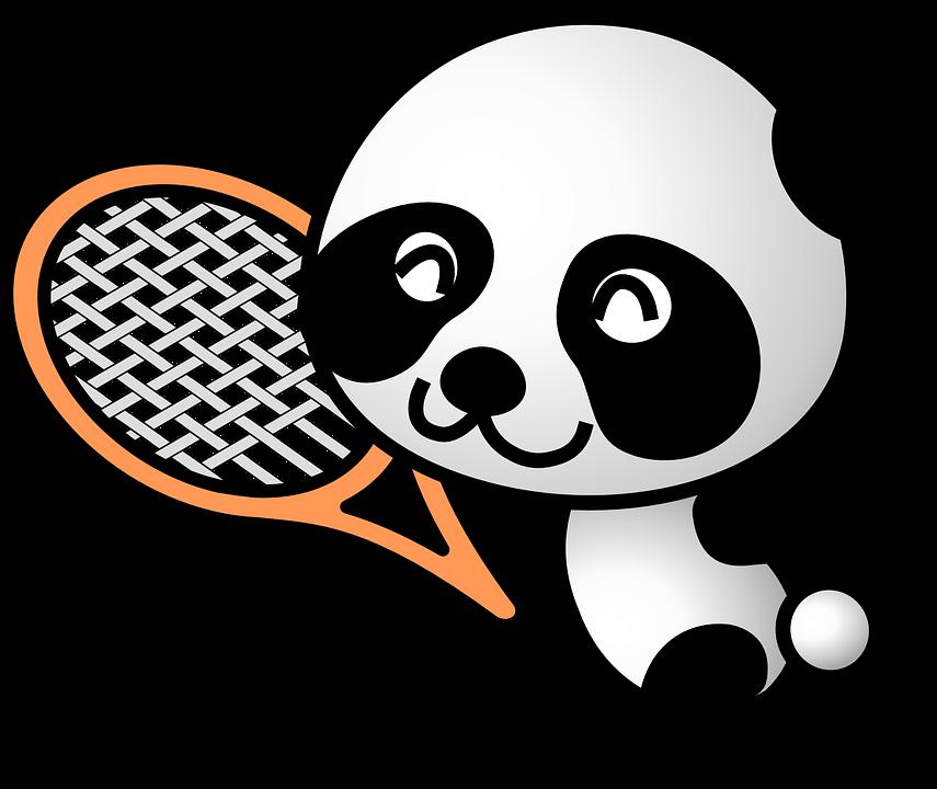 Free vector graphic: Panda, Sportive, Animal, Sports ...