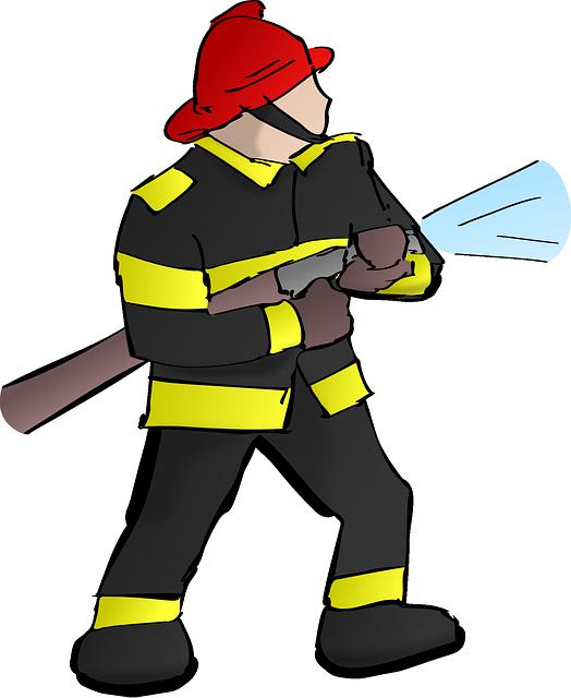firefighter fire fireman  u00b7 free vector graphic on pixabay Fireman Outline SVG Walking Fireman Silhouette SVG