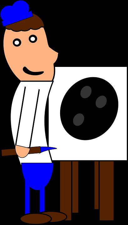 Ressam Sanatçı Boyama Boya Pixabayda ücretsiz Vektör Grafik