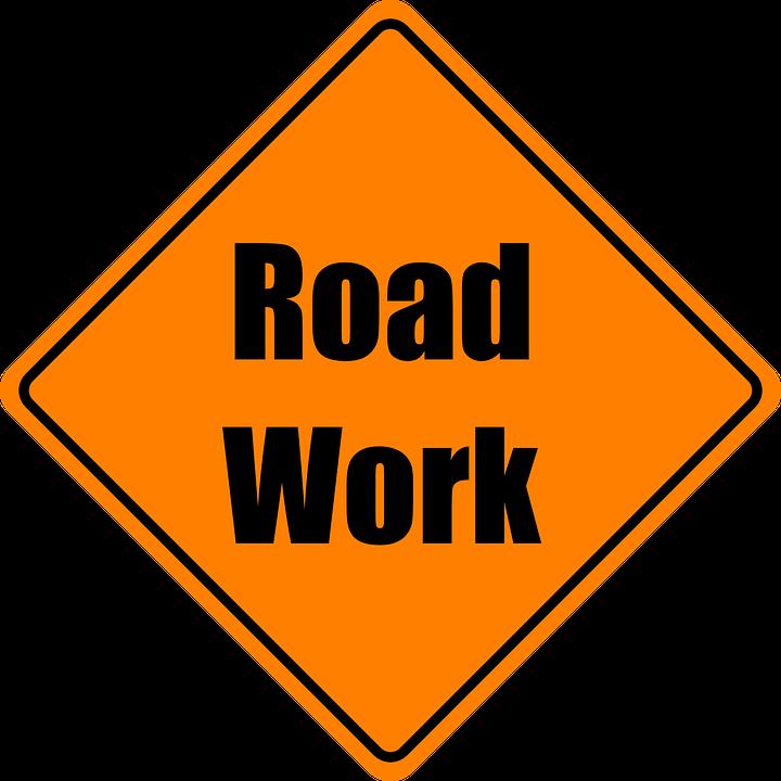 Road Work, Construction, Orange, Road Sign, Roadsign