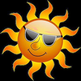 Sun, Cool, Sunshine, Glossy, Smile