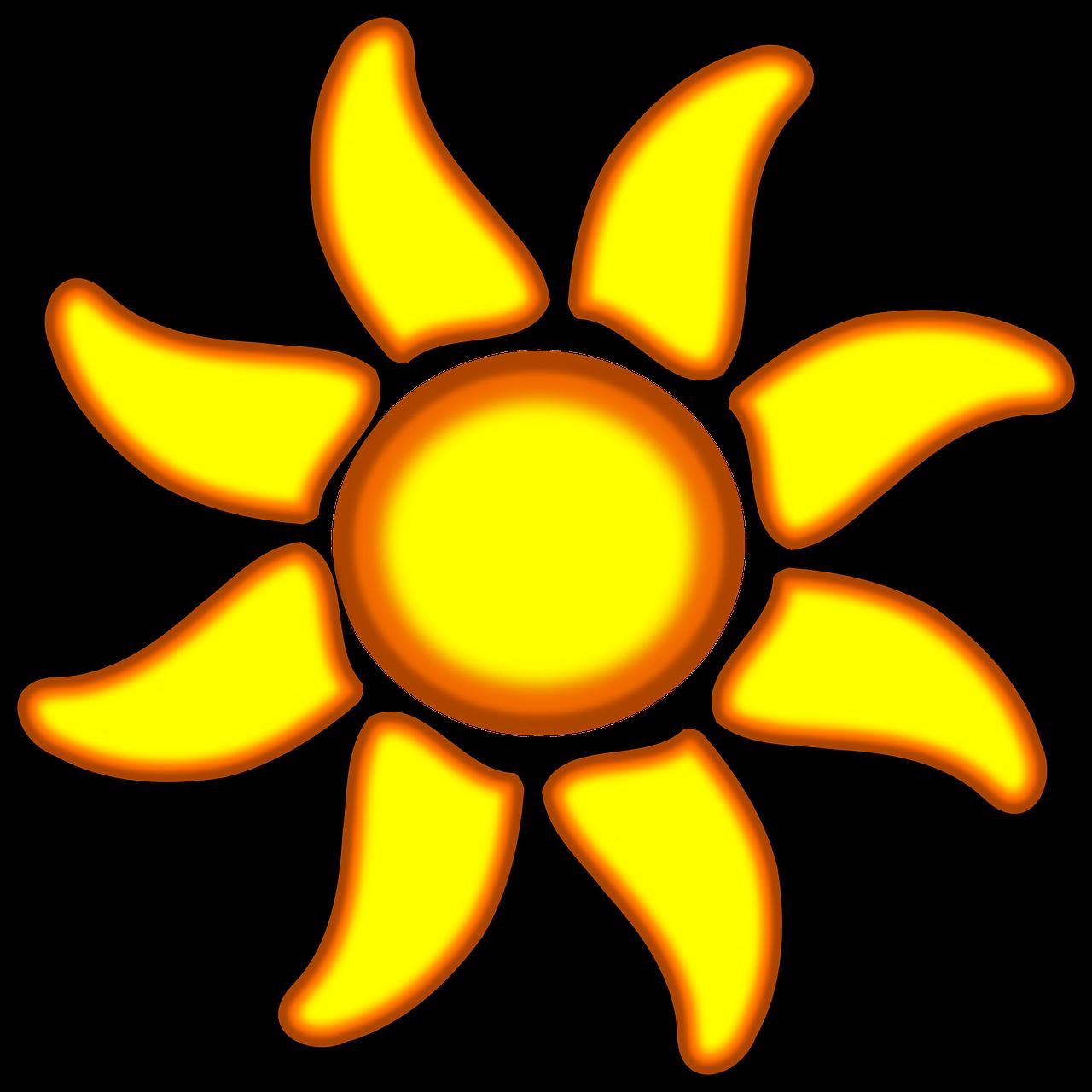 Bunga Matahari Sinar Gambar Vektor Gratis Di Pixabay