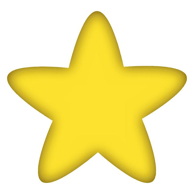 Imagem Vetorial Gratis Estrelas Favorito Amarela
