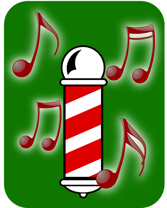 Barbershop Music : Free vector graphic: Barber, Barbershop, Music, Notes - Free Image on ...