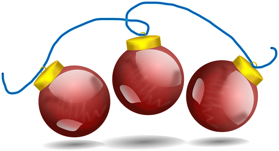 Christmas Chain Clipart.Christmas Balls Red Decoration Free Vector Graphic On Pixabay