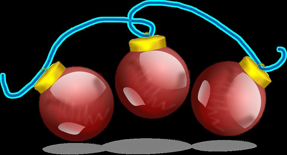 Kostenlose vektorgrafik weihnachtskugel rot dekoration - Weihnachtskugeln transparent ...