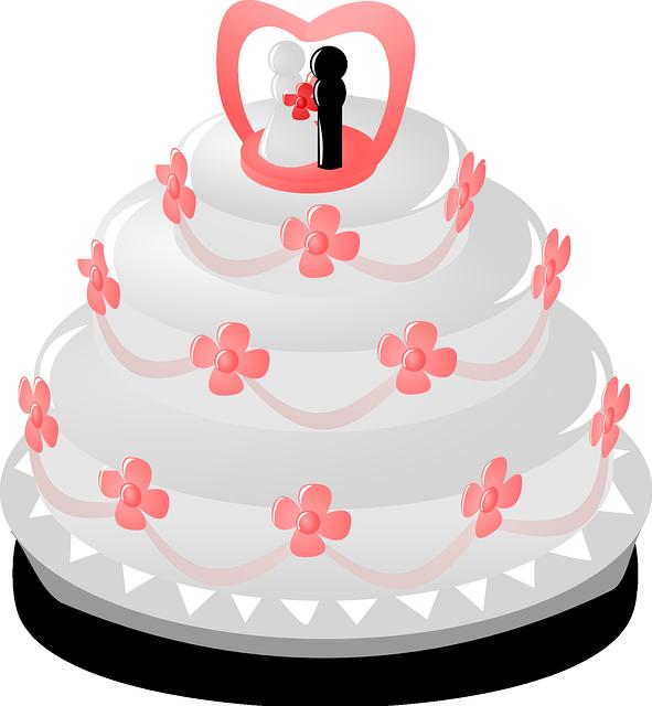 Wedding Cake Whipped Cream · Free vector graphic on Pixabay
