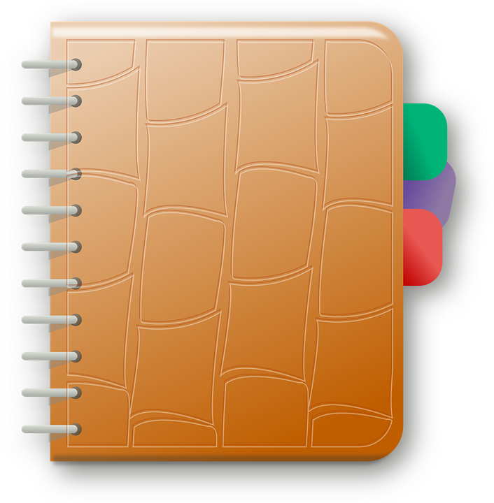 free vector graphic  agenda  note  notebook  documents