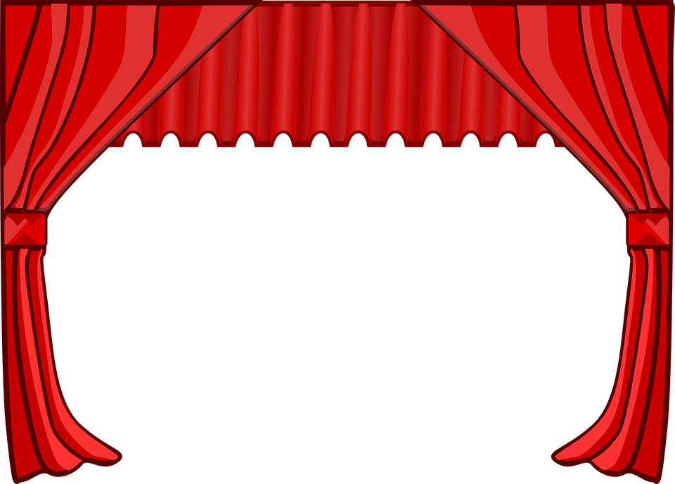 Curtain Stage Theater Movies Cinema Red