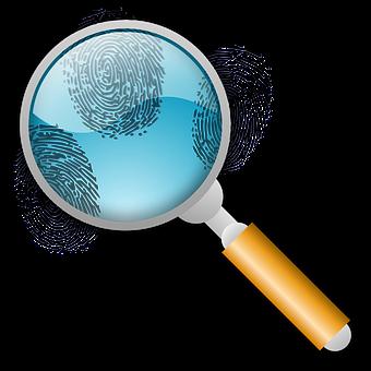 探偵, 手がかり, 検索, 指, 指紋, 謎, ルーペ