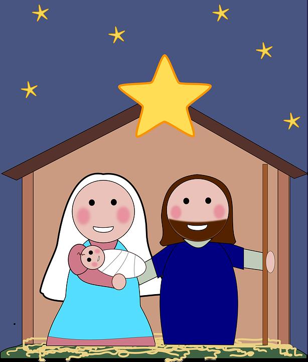 Christmas Eve, Maria, Joseph, Crib, Jesus, Christmas