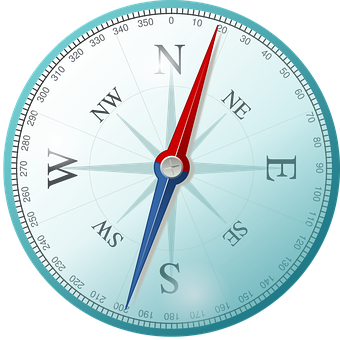Kompas East Na Północ Południe Zachód Róża