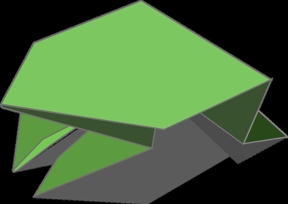 Origami Katak Amfibi Gambar Vektor Gratis Di Pixabay