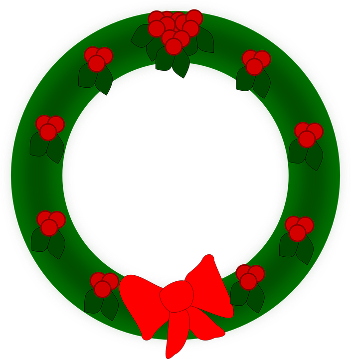 Immagini Natalizie Vettoriali.Ghirlanda Natale Decorazione Grafica Vettoriale Gratuita Su Pixabay