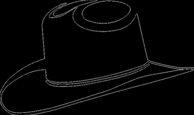 Sombrero De Vaquero Negro · Gráficos vectoriales gratis en ...