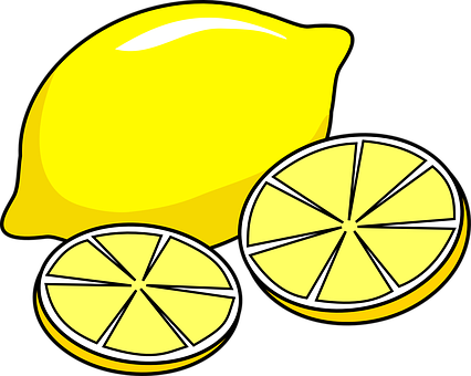 Lemon Juicy Slices Yellow Citrus Citrus Fr
