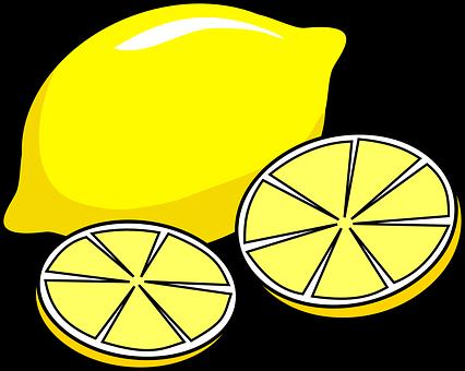 Lemon Juicy Slices Yellow Citrus Citrus Fr