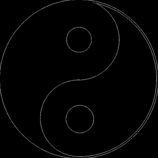 yin und yang gleichgewicht kostenlose vektorgrafik auf. Black Bedroom Furniture Sets. Home Design Ideas