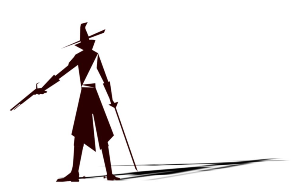 Free vector graphic: Villain, Wild West, Gunslinger, Hat - Free ...