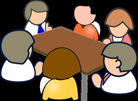 Réunion, Conférence, Personnes, Table