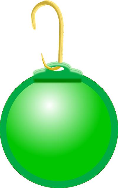 image vectorielle gratuite boule de no l vert no l. Black Bedroom Furniture Sets. Home Design Ideas