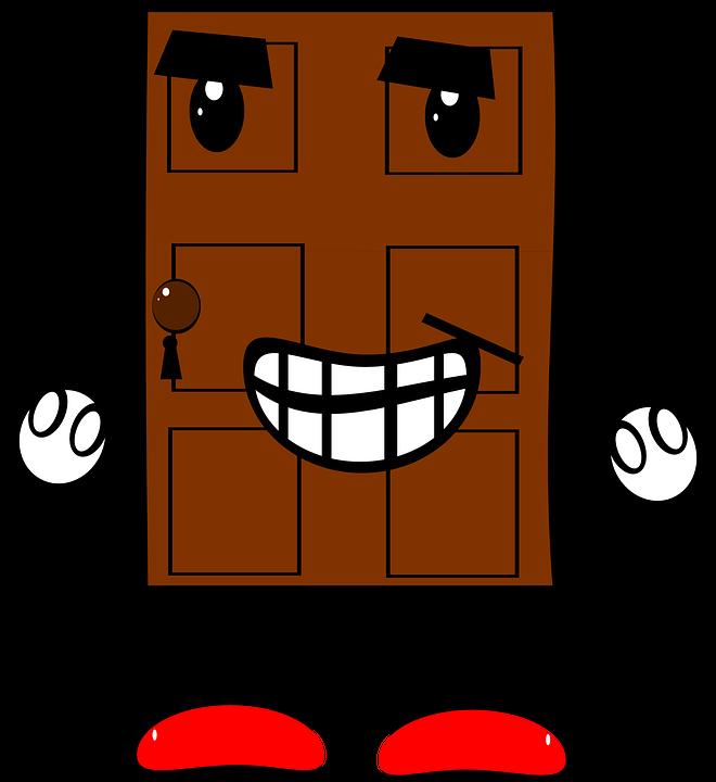 door creature cartoon legs arms eyes mouth  sc 1 st  Pixabay & Door Creature Cartoon · Free vector graphic on Pixabay