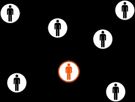 Linked Connected Network Team Teamwork Bla