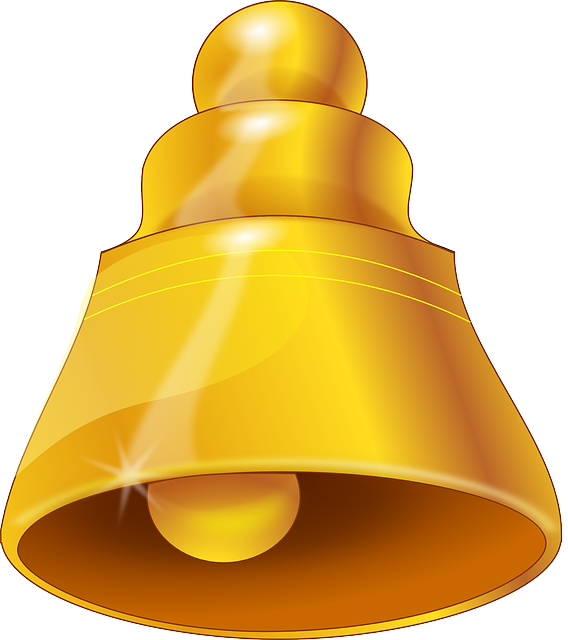 Gold Wedding Bells: Bell Gold Ring · Free Vector Graphic On Pixabay