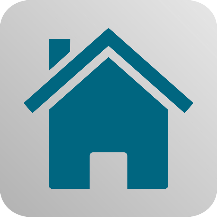 free vector graphic  home  house  building  button  blue