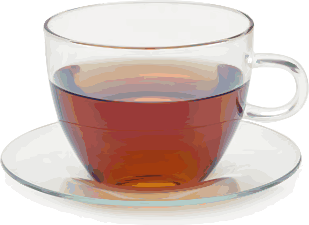 Я выпиваю чашку чая