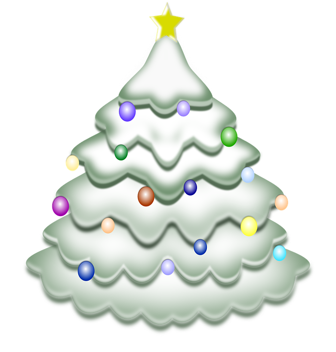 Kostenlose vektorgrafik weihnachtsbaum schnee - Arboles de navidad artesanales ...