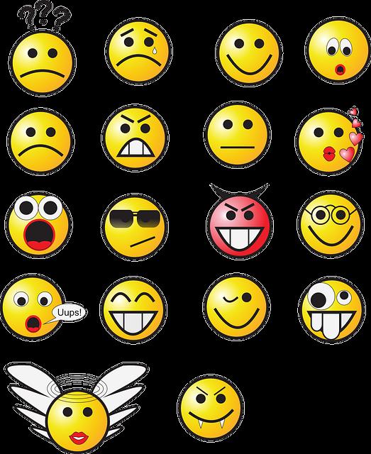 Smileys Satz Gelb · Kostenlose Vektorgrafik Auf Pixabay