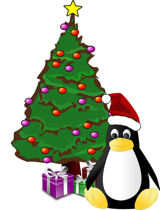 free vector graphic tux penguin christmas tree free. Black Bedroom Furniture Sets. Home Design Ideas