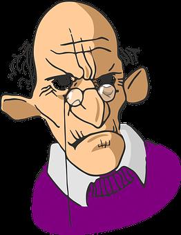 高齢者, しわ, 男, 古い, 老人, 怒って, 眼鏡