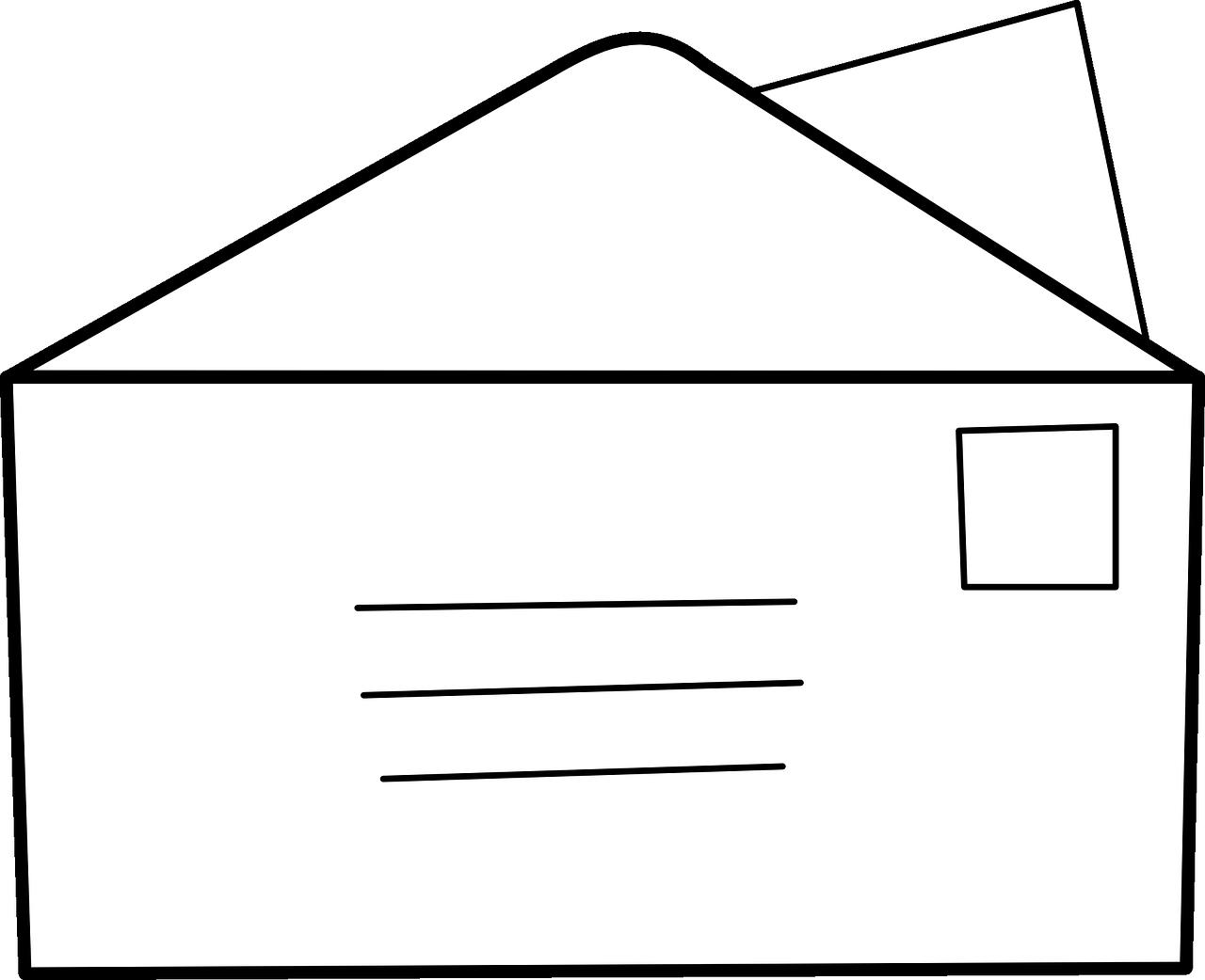 Флеш, рисунок конверта для письма