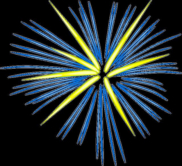 Fuegos Artificiales Azul · Gráficos vectoriales gratis en ...
