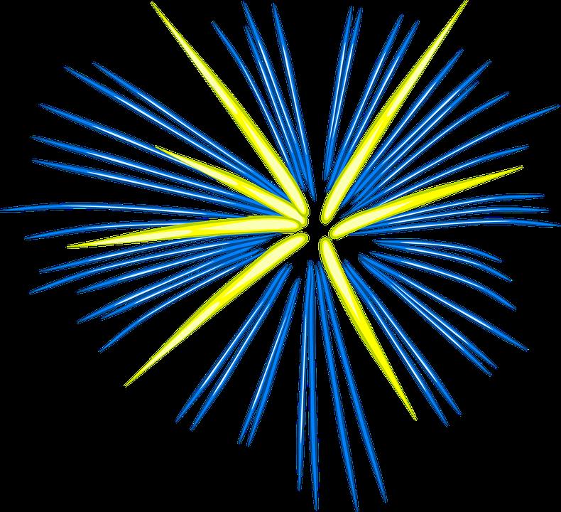 Fuegos Artificiales Azul Graficos Vectoriales Gratis En Pixabay