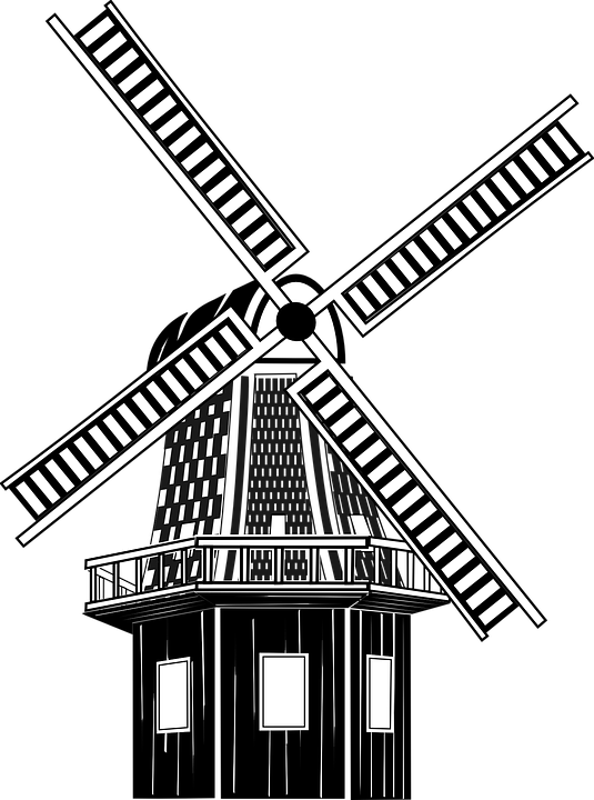 free vector graphic  windmill  wind  mill  medieval