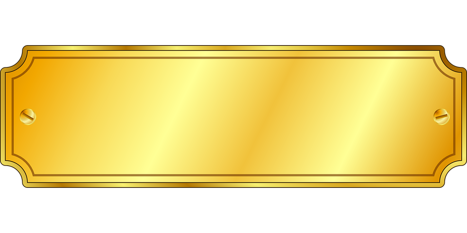 Free vector graphic gold screws label sign free image on pixabay 153031 - Plaque ondulee polycarbonate transparent ...