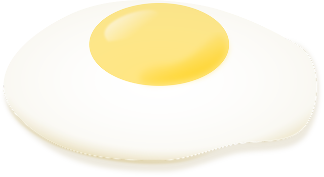 egg fried sunny side up 183 free vector graphic on pixabay