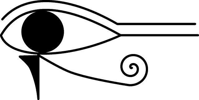 free vector graphic horus hieroglyph hieroglyphic