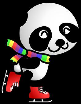 Panda, Brusle, Bruslení, Zvíře, Šála