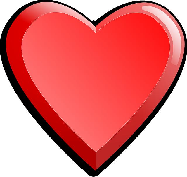 Картинка большое красное сердечко