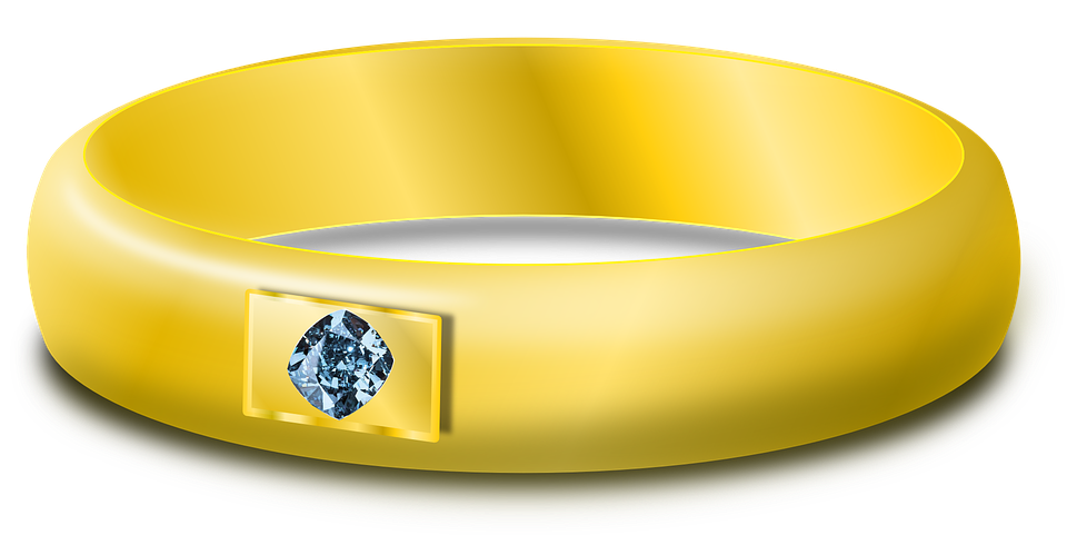 Free vector graphic Diamond Gold Ring Wedding Ring Free