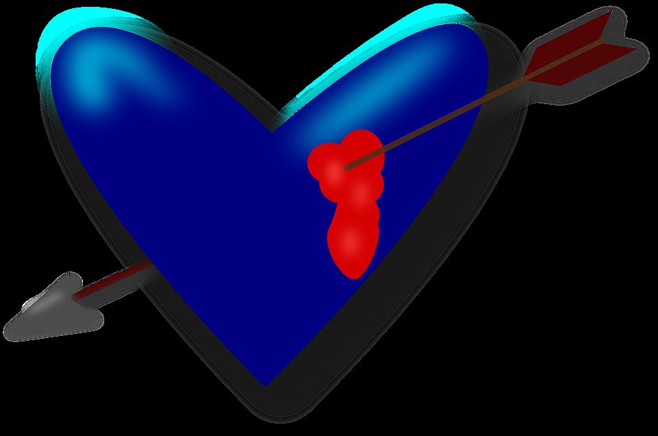Heart, Love, Valentine, Arrow, Blood, Broken Heart