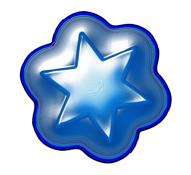 Gambar Memakai Gambar Bintang Berwarna Biru Tapi Kalian